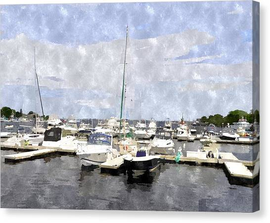 Newburyport Harbor Nhwc Canvas Print