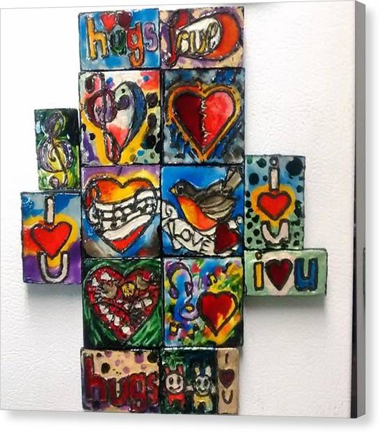 Hearts Canvas Print - Newest Refrigerator Magnets For The by Genevieve Esson
