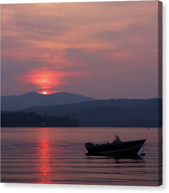 Lake Sunrises Canvas Print - Newfound Lake, Nh by Jerry LoFaro