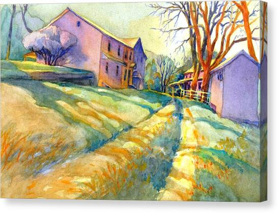 Grist Canvas Print - Newlin Grist Mill, No 3 by Virgil Carter