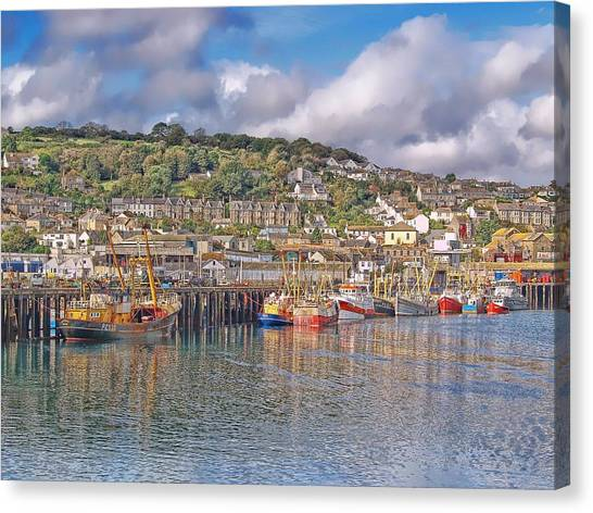 Newlyn Harbour Cornwall 2 Canvas Print