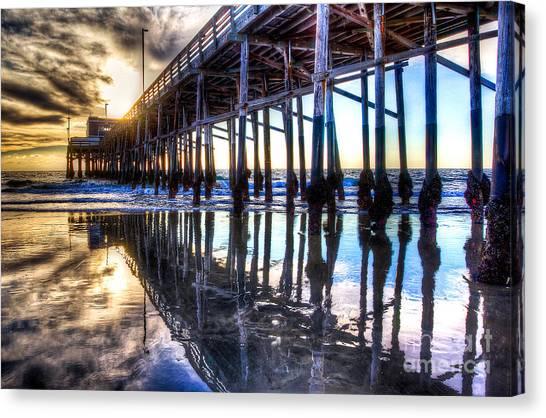 Newport Beach Pier - Reflections Canvas Print