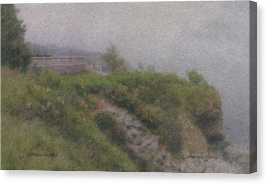 Newport Cliff Walk In The Fog Canvas Print