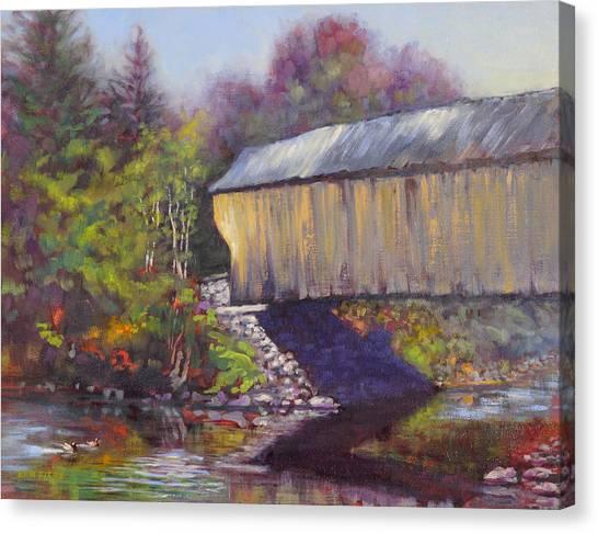 Newport Covered Bridge Canvas Print