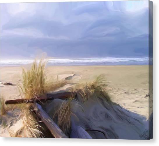 Newport Oregon Summer Beach Canvas Print by Shelley Bain