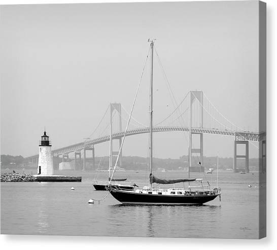 Newport, Rhode Island Serene Harbor Scene Canvas Print