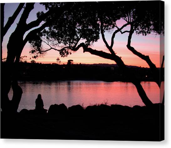 Newport Sunset Canvas Print