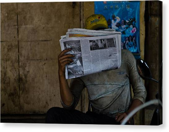 News Break Canvas Print