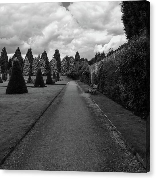 Canvas Print featuring the photograph Newstead Abbey Country Garden Gravel Path by Scott Lyons