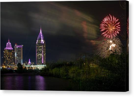 New Year Celebration 4 Canvas Print
