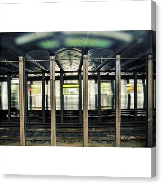 Trainspotting Canvas Print - #newyork #nycsubway #subway #metro by Senjuti Kundu