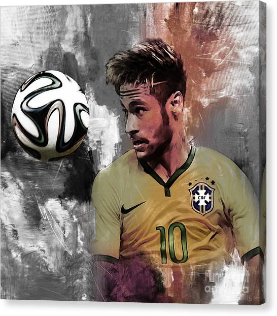 Lionel Messi Canvas Print - Neymar 051a by Gull G