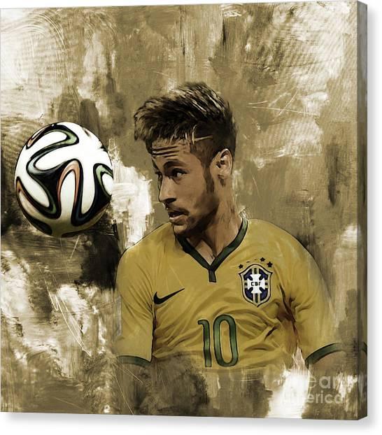 Fc Barcelona Canvas Print - Neymar 05a by Gull G