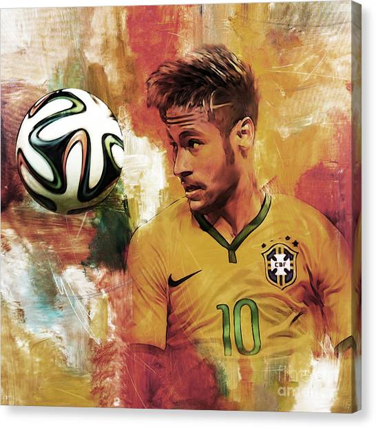 Lionel Messi Canvas Print - Neymar 05d by Gull G