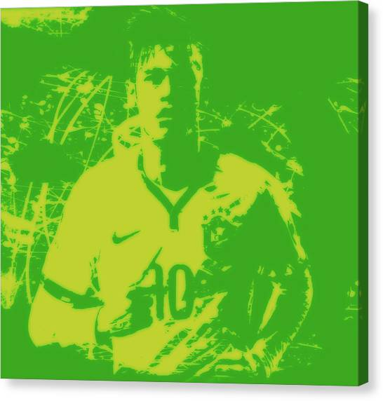 Neymar Jr Canvas Print - Neymar 3a by Brian Reaves