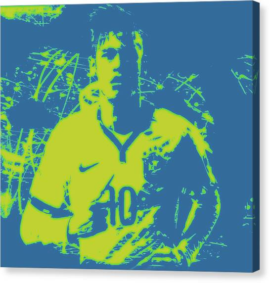 Neymar Jr Canvas Print - Neymar 3b by Brian Reaves