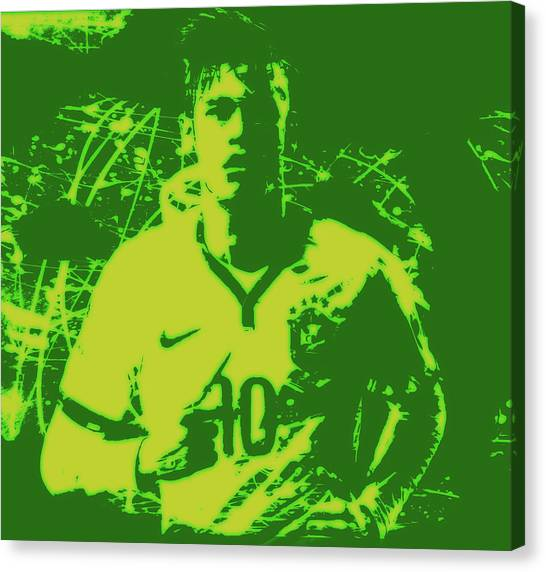 Neymar Jr Canvas Print - Neymar 3e by Brian Reaves