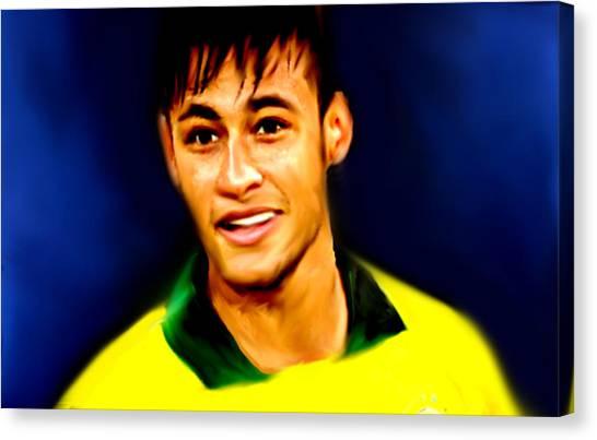 Neymar Jr Canvas Print - Neymar Brasileiro  by Enki Art