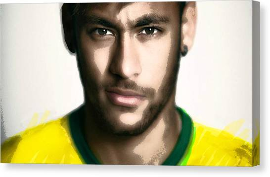 Neymar Jr Canvas Print - Neymar Jr Brasileiro Painting by Enki Art