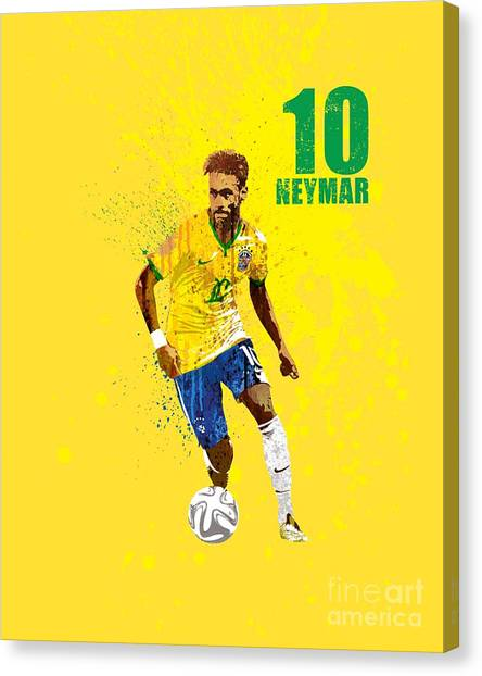 Andres Iniesta Canvas Print - Neymar Junior #2 by Art Popop