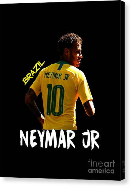 Neymar Jr Canvas Print - Neymar Junior by KamiKami