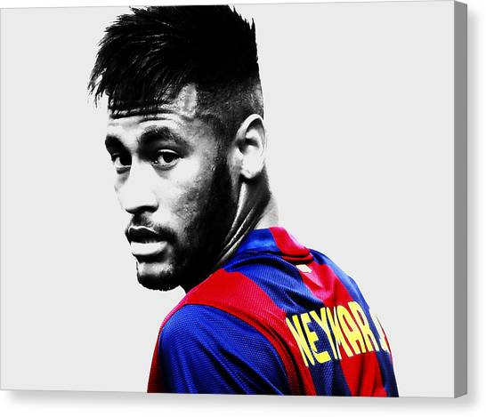 Neymar Jr Canvas Print - Neymar Making Magic by Brian Reaves