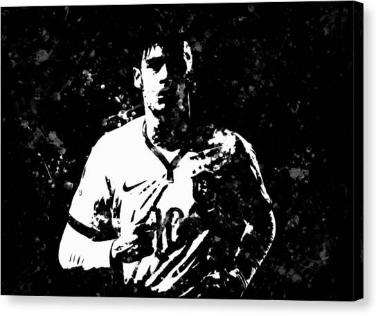 Neymar Jr Canvas Print - Neymar S1 by Brian Reaves