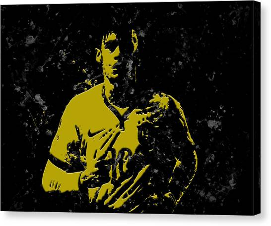 Neymar Jr Canvas Print - Neymar S1a by Brian Reaves