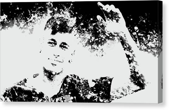 Neymar Jr Canvas Print - Neymar S1b by Brian Reaves