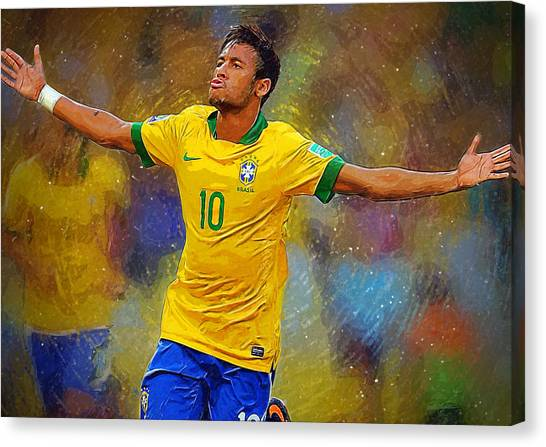 Mls Canvas Print - Neymar by Semih Yurdabak