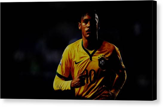 Neymar Jr Canvas Print - Neymar The Gem by Brian Reaves