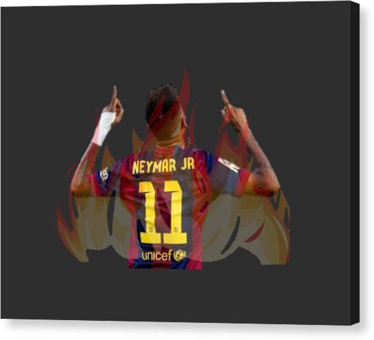 Xabi Alonso Canvas Print - Neymar by Vincenzo Basile