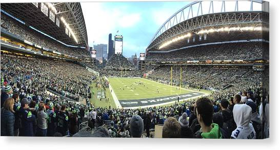 Seattle Seahawks Canvas Print - Nfc West Championship by Kylie Scott