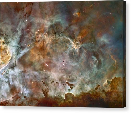 Ngc 3372 Taken By Hubble Space Telescope Canvas Print