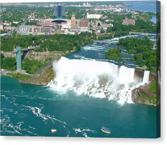 Niagara American And Bridal Veil Falls  Canvas Print