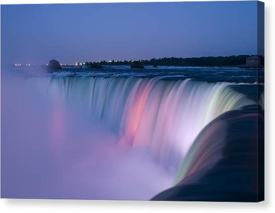 Horseshoe Falls Canvas Print - Niagara Falls At Dusk by Adam Romanowicz