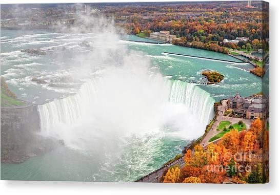 Niagara Falls Autumn Canvas Print