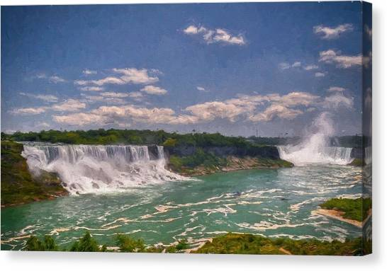 Fall In Niagara Falls Canvas Print