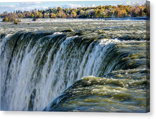 Niagara Falls In Autumn Canvas Print