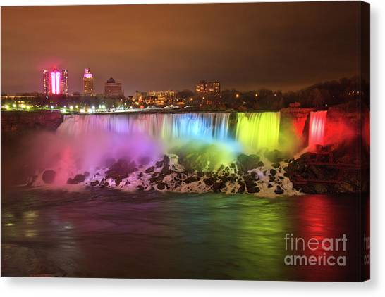 Niagara Falls Rainbow Canvas Print