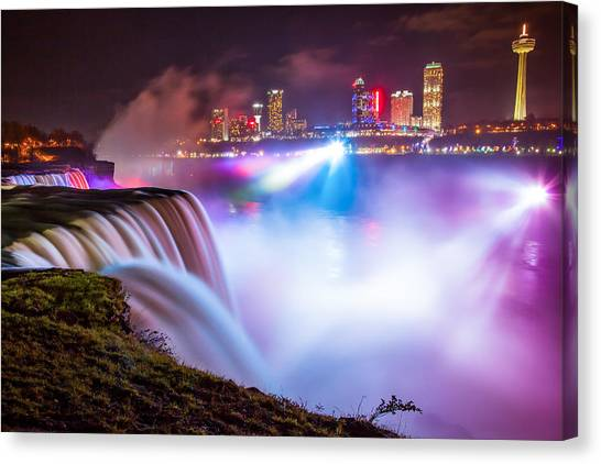 Niagara Night Canvas Print