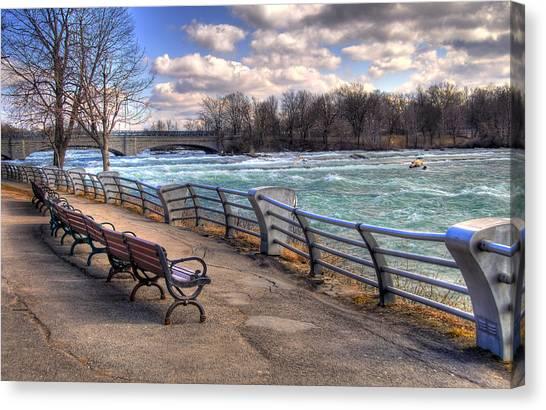 Niagara Rapids In Early Spring Canvas Print