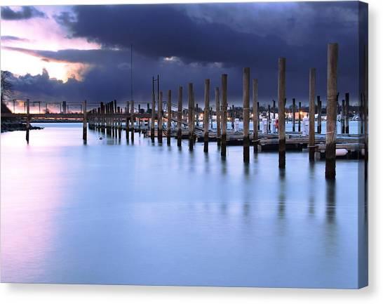 Niantic Docks Canvas Print