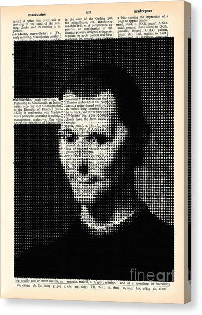 Statue Portrait Canvas Print - Niccolo  Machiavelli by Igor Kislev