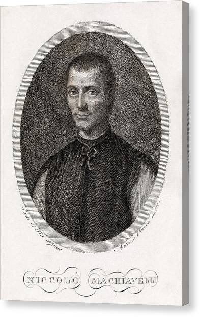Political Science Canvas Print - Niccolo Machiavelli, Italian Philosopher by Middle Temple Library