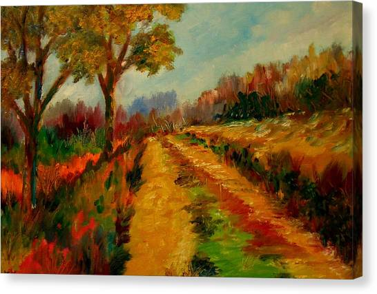 Nice Pathway Canvas Print by Constantinos Charalampopoulos