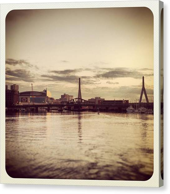 Hockey Teams Canvas Print - Nice View From The Odyssey Of The Zakim by Scott Breaker