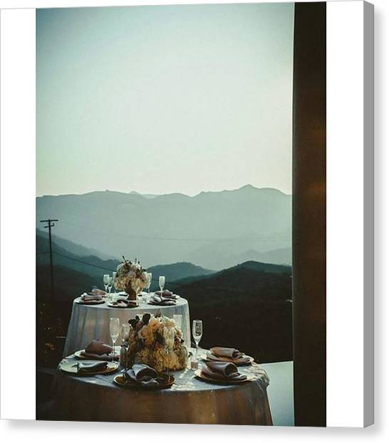 Wedding Canvas Print - #niceview #landscape #tablesetting by Andrei Andries