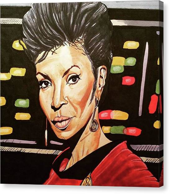 Portrait Canvas Print - Uhura  by Russell Boyle