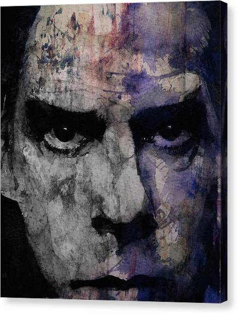 Punk Canvas Print - Nick Cave Retro by Paul Lovering